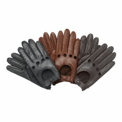 Men's Leather soft Driving Gloves Retro style