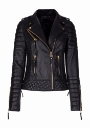 Ladies Biker Leather Jacket