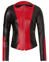 Ladies Slim Fit Biker Leather Jacket